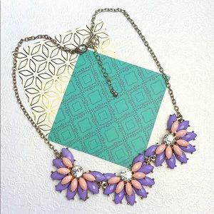 ⚜️Je❤️Vintage ⚜️ purple pink flowers necklace